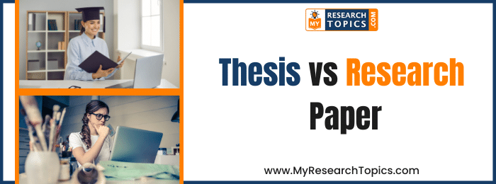 Thesis vs Research Paper