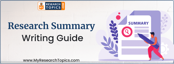 Research Summary Writing
